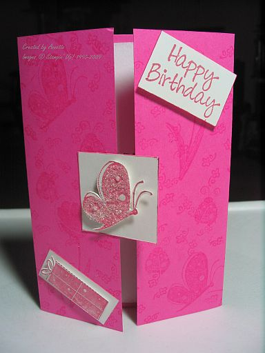Gatefold Birthday Pink Garden Whimsy