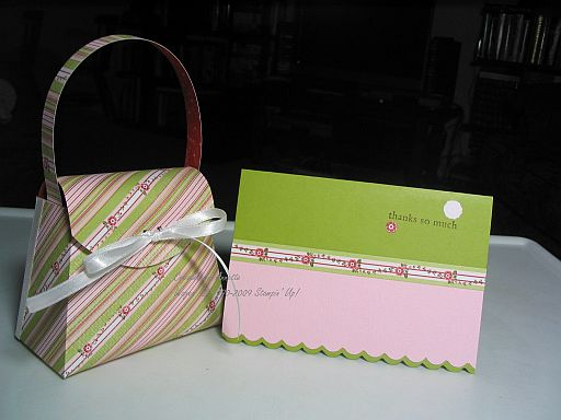 Purse Thank you Sweet Nothings Stripes