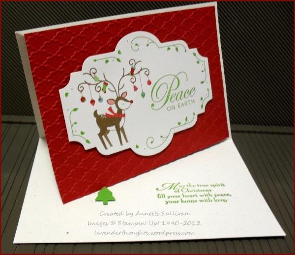 Greetings of the Season Cobbler Snow Festival Designer Tag Reindeer