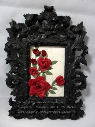 Fancy Flower Rose Frame