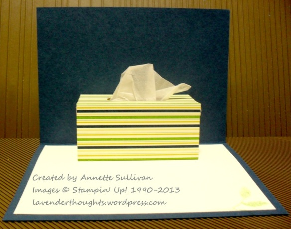 Perfectly Penned Owl Tissue Box INSIDE