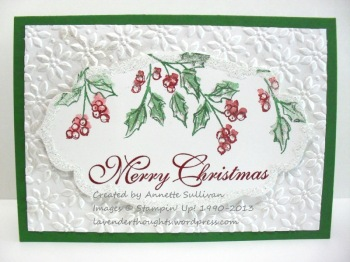 Watercolor Winter Apothecary Green Christmas