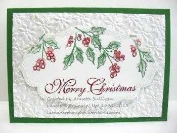 Watercolor Winter Apothecary Green Christmas