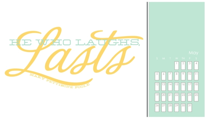 2013 Quotable Calendar Template MAY