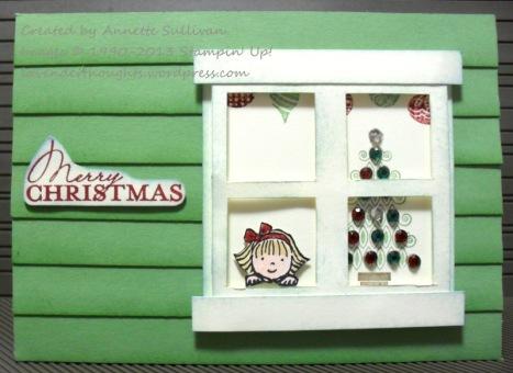 Contempo Christmas Wasabi House Window