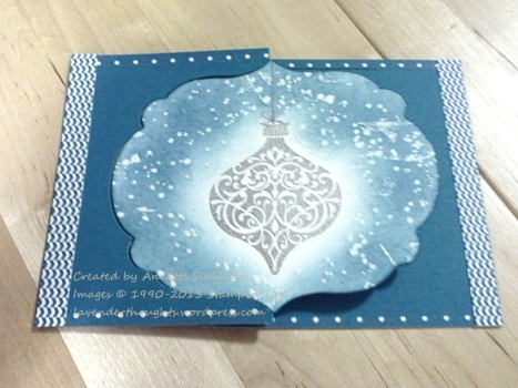 Ornament Keepsakes Indigo Flip CLOSED