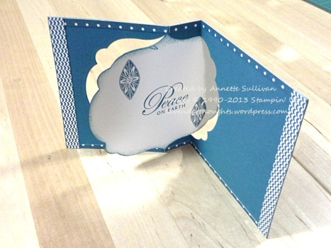 Ornament Keepsakes Indigo Flip OPEN