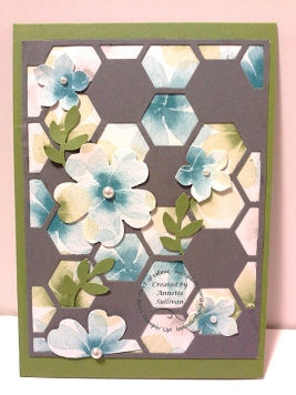 Hexagon Hive Watercolor Wonder Gumball Gray