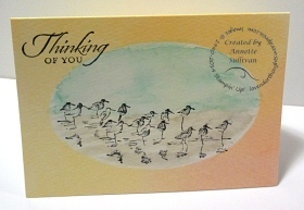 Wetlands Watercolor Wonder Note Card Birds
