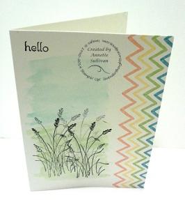 Wetlands Watercolor Wonder Note Card Grass