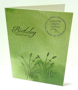 Wetlands Watercolor Wonder Note Card Green Grass