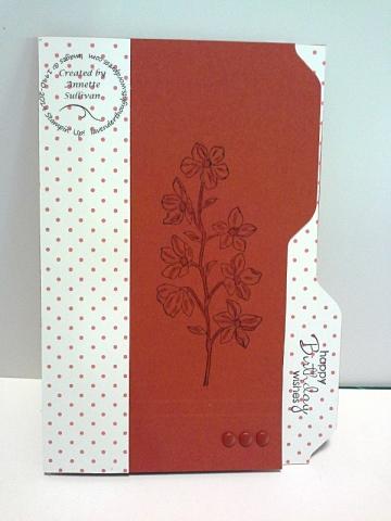 Peaceful Petals Cajun File Folder Card
