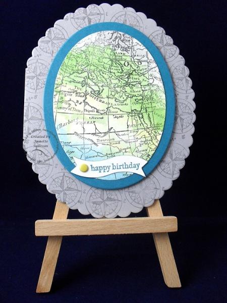 World Map Acrylic Block Watercolor