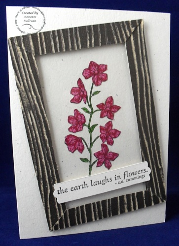 Peaceful Petals Raspberry Woodgrain
