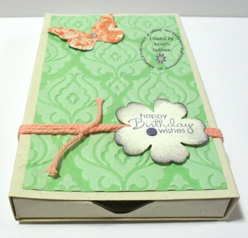 Flower Shop Baroque Pistachio 3d Pop Up Match Box CLOSED