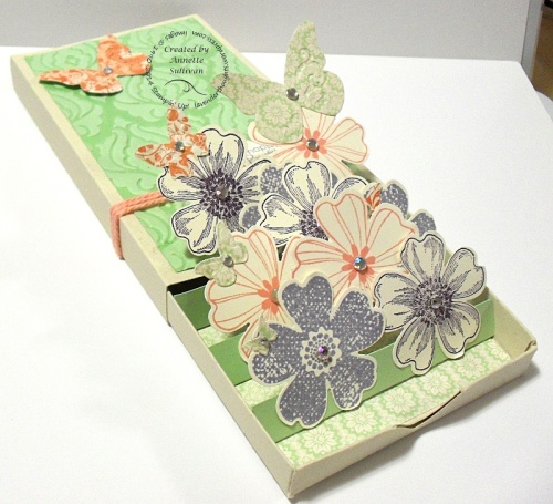 Flower Shop Baroque Pistachio 3d Popup Match Box