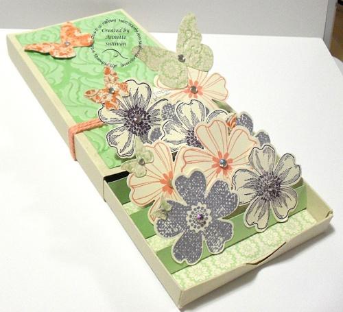 Flower Shop Baroque Pistachio 3d Popup Match Box