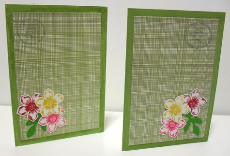 Petite Petals Gingham Garden Pizzazz Note Cards