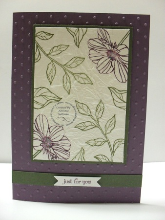 Peaceful Petals Faux Silk Plum