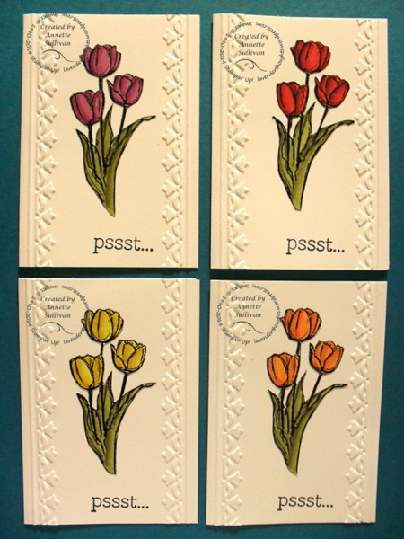 Blessed Easter Blendabilities Tulips Note Cards