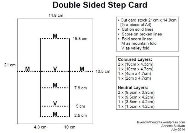 Double Sided Step Card