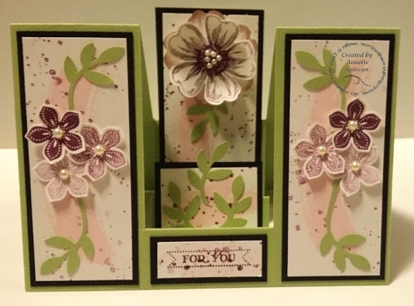 Petite Petals Double Sided Step Card Celery