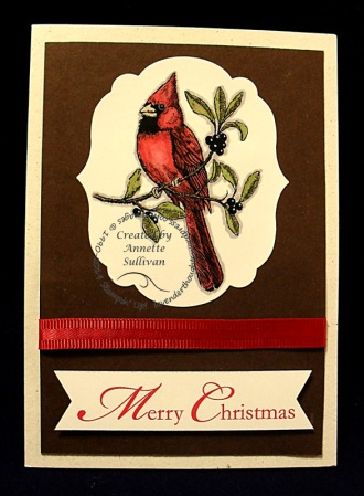 A Cardinal Christmas Chocolate Cherry
