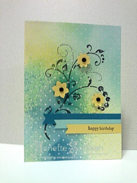 Flowering Flourishes Indigo Party Delight
