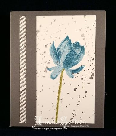 Lotus Blossom Basic Indigo Olive Note Card Box