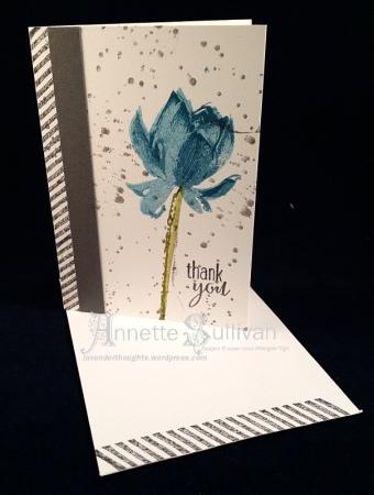 Lotus Blossom Basic Indigo Olive Note Cards