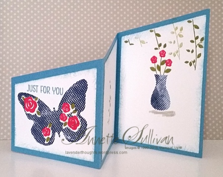 Floral Wings Marina Trifold Angle OPEN
