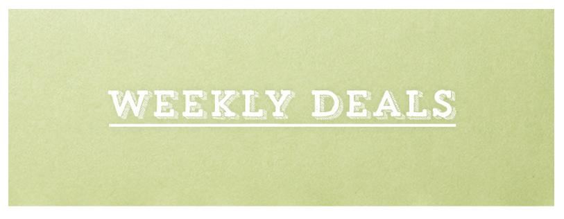 Weekly Deals 28 October2015