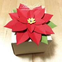 Real Red Festive Flower Builder Poinsettia