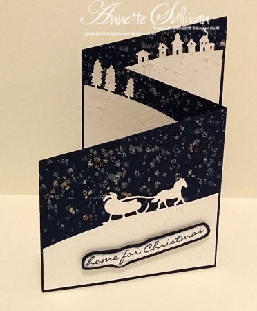 Jingle All the Way Navy Trifold Angle