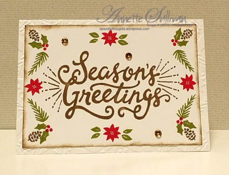 Berry Merry Boughs & Berries Suede Greetings
