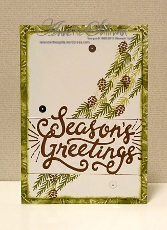 Berry Merry Olive Bordered Sentiment Greetings