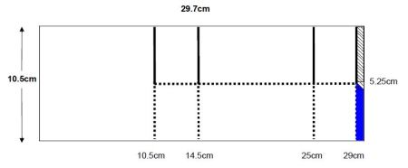 Card in a Box Landscape measurements