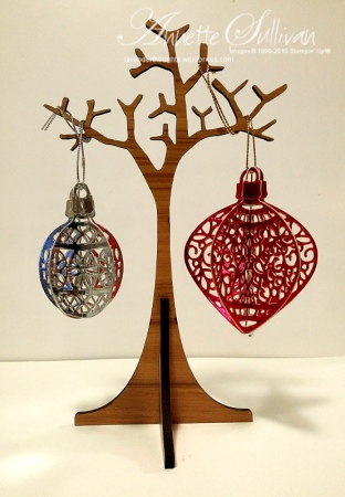 Delicate Ornaments Silver and Red