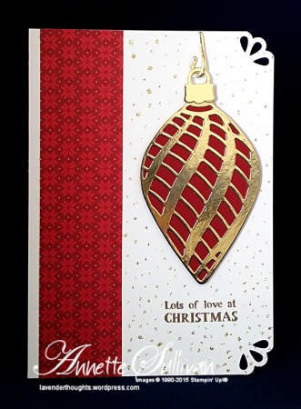 Embellished Ornaments Cherry Gold