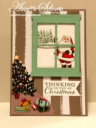 Embellished Ornaments Mint Taupe Santa Tree