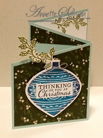 Embellished Ornaments Mossy Sky Trifold Angle