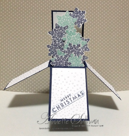 Flurry of Wishes Portrait Card in a Box Pool Navy