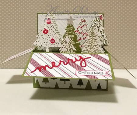 Peaceful Pines Landscape Card in a Box Olive