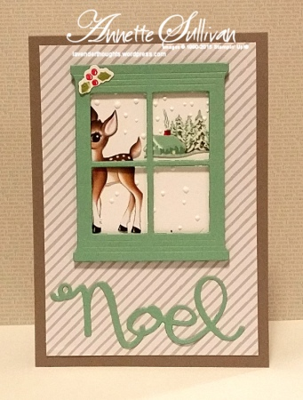 Snow Place Mint Taupe Reindeer Noel