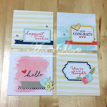 Watercolor Wishes Kit Square Cards