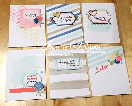 Watercolor Wishes Kit Standard Cards Portrait
