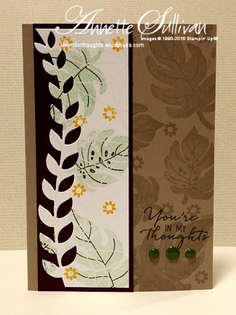 Botanical Blooms Mint Taupe