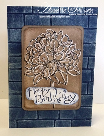 Best Thoughts Navy Taupe Birthday