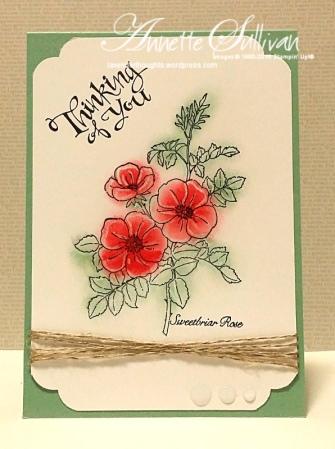 Sweetbriar Rose Linen Macaron