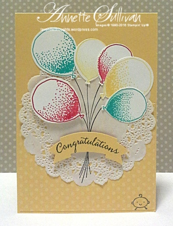 Balloon Celebration Saffron Doily Baby